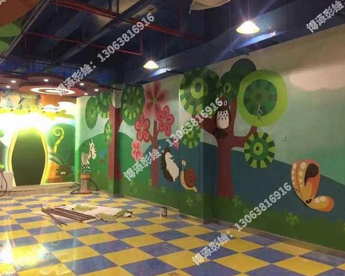 游乐场室内墙绘
