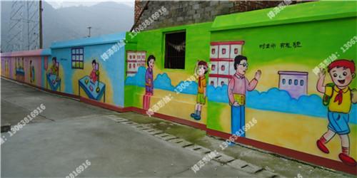 墙绘的布局